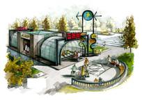 地铁手绘效果图