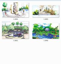 公园特色景观设计透视图