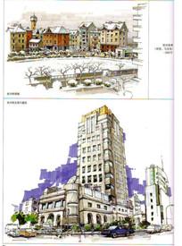杭州街景手绘