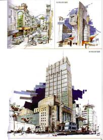 杭州街头现代建筑景观