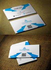 简洁蓝色风格系列个人名片 PSD