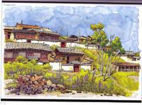 若尔盖郎木寺建筑