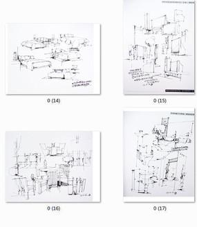 室内家具手绘线稿