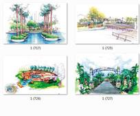 特色公园景观设计手绘透视图