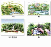 特色公园景观设计手绘效果图