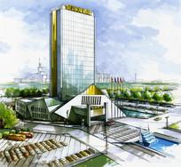 现代创意建筑广场景观