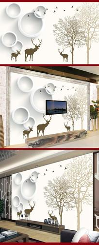 现代简约电视背景墙设计