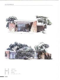小展览厅手绘建筑 JPG