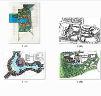 住宅景观设计手绘平面图