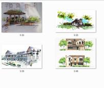 住宅设计手绘效果图