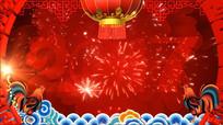 2017鸡年喜庆年会晚会节日背景视频素材