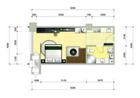 单身公寓室内平面图