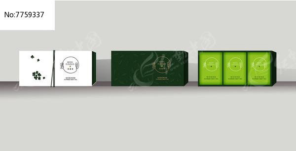 花与茶茶叶包装设计图片