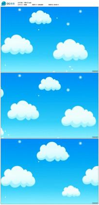 卡通白云天空视频