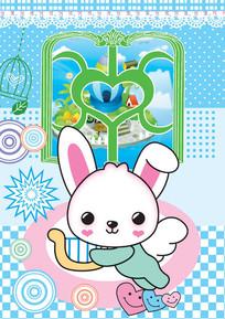 可爱小兔子psd