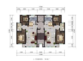 两室小户型高清户型图