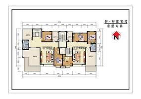 两套复式住宅二层户型图