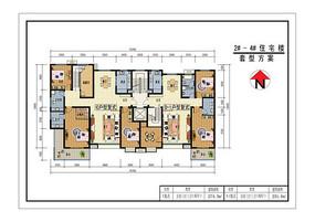 两套复式住宅一层户型图