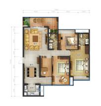 三室两厅两卫高清户型图