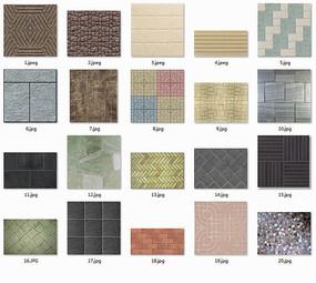 室外地板砖贴图 JPG