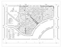 现代别墅区规划设计平面 dwg