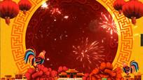 喜庆中国风新年春节拜年视频素材