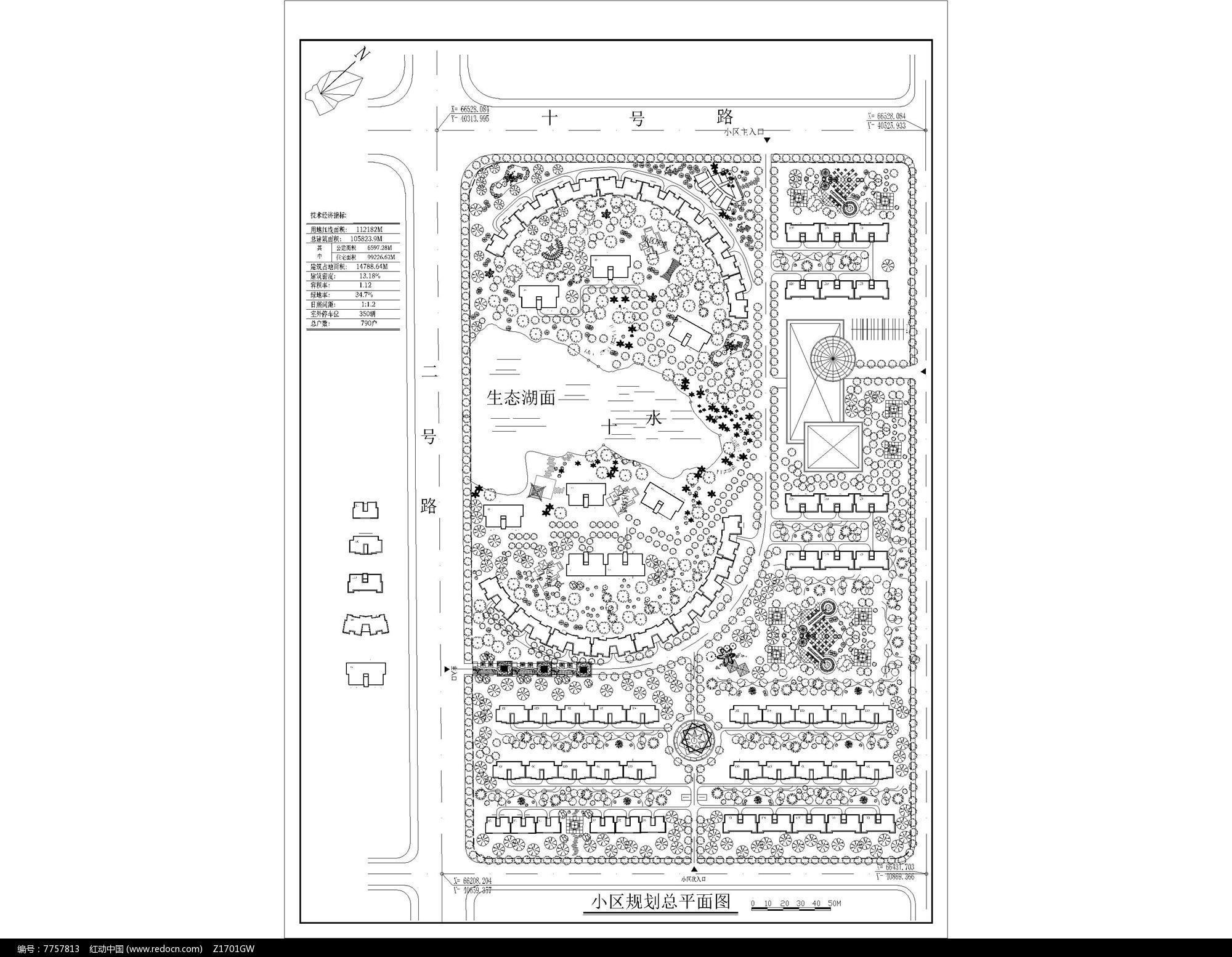 住宅区景观设计平面图片