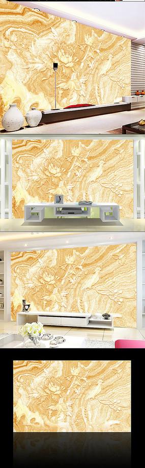 金黄大理石电视墙背景墙