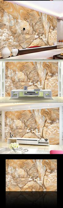 山水大理石厅客背景墙