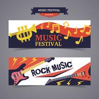 音乐节banner AI
