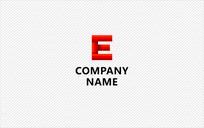 字母E标志设计