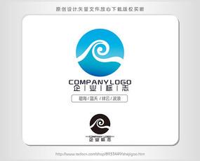 字母R酒店水处理标志logo设计