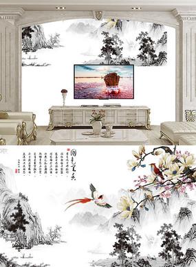 花鸟鱼虫电视背景墙