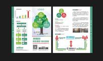 互联网金融对折页设计