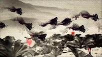 水墨蝴蝶飞舞视频素材