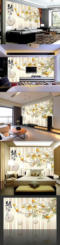 中国风背景墙电视墙