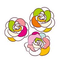 个性玫瑰花一朵朵插画