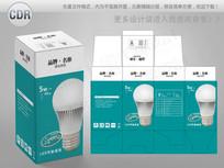 简约LED球泡彩盒设计 CDR