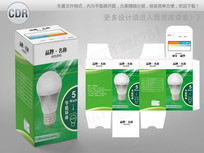 绿色创意节能灯包装彩盒 CDR