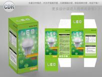绿色清新风格LED球泡包装 CDR