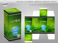 绿色日本文字创意LED球泡彩盒 CDR