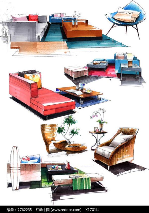马克笔沙发