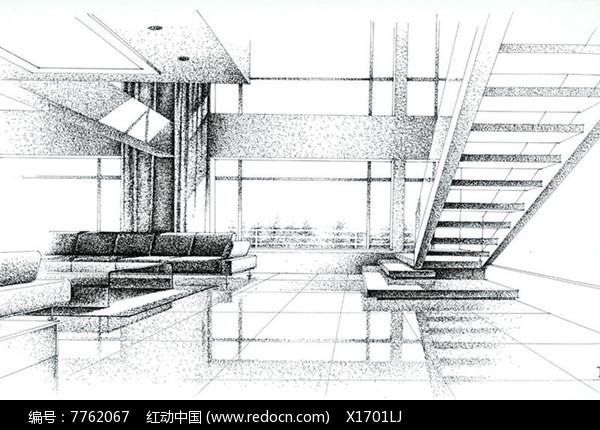 手绘素描室内设计