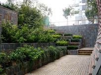 下沉式景观庭院