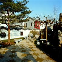 新中式别墅区景观意向图