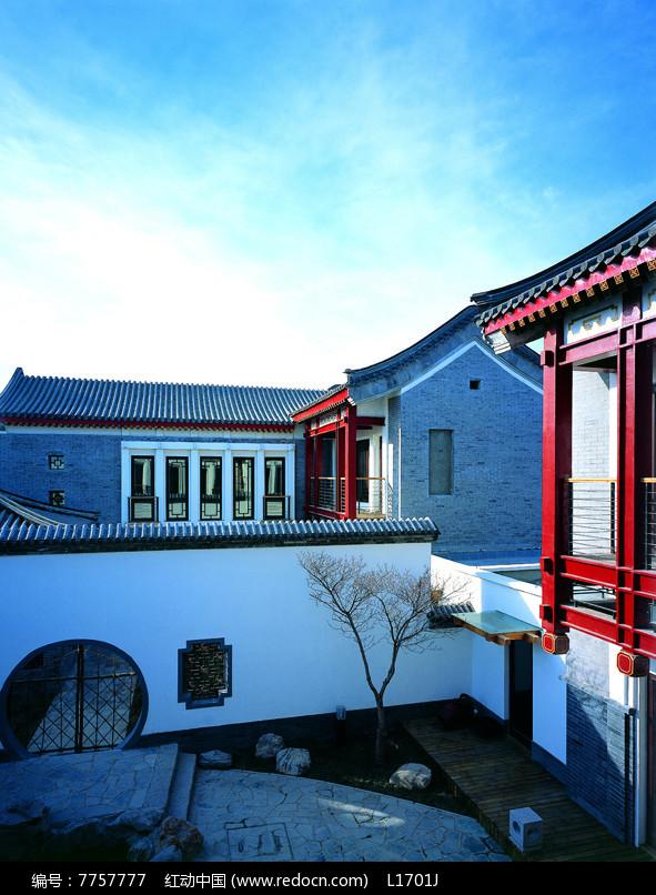 新中式建筑围墙景观图片