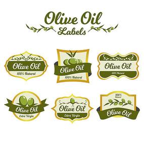 橄榄油瓶贴标签设计