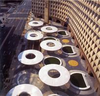 圆形元素广场创意小品 JPG