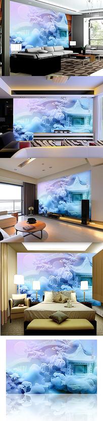 玉雕电视背景墙设计