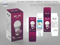紫红色背景LED节能灯包装 CDR